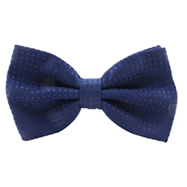 Mens Classic Solid Blue Polka Dot Bow Tie