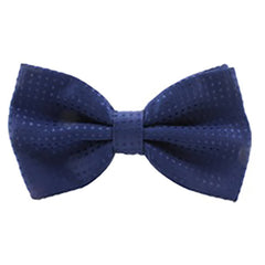 Mens Classic Solid Blue Polka Dot Bow Tie - Gifts Are Blue