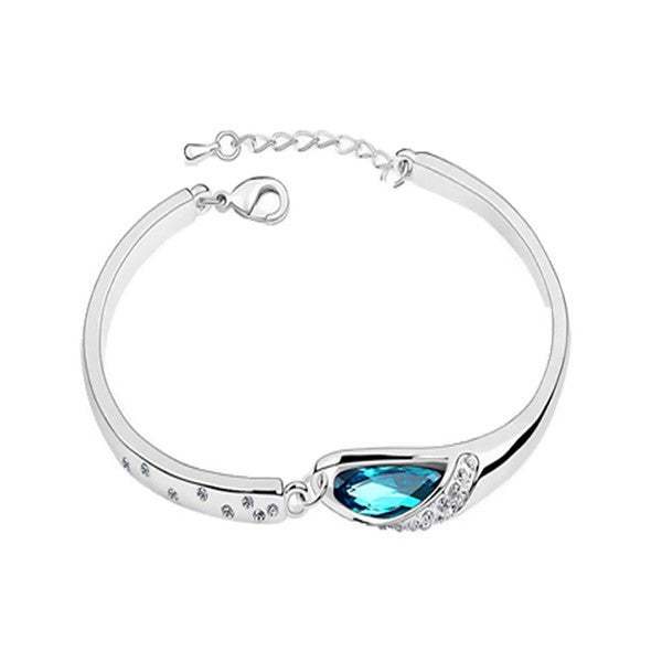 Simply Elegant Ocean Blue Women's Bracelet with Gift Box