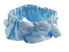 Baby Blue Satin Wedding Garter Set for Bride - Gifts Are Blue - 3