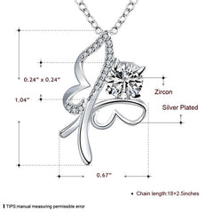 Sterling Silver Butterfly Necklace with Blue Cubic Zirconia - Gifts Are Blue - 5