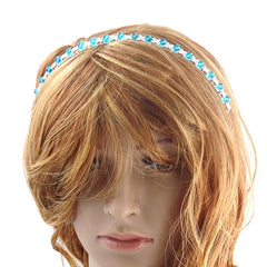 Blue Crystal Tiara Headband - Gifts Are Blue - 2