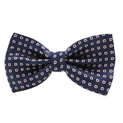 Mens Classic Blue Multi-Color Polka Dot Bow Tie - Gifts Are Blue