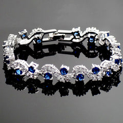 Fashionable Blue Sapphire Bracelet Jewelry With Gift Box - Gifts Are Blue - 4