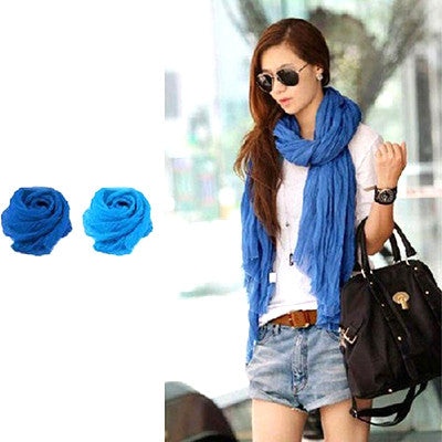 Versatile Blue Scarf and Shawl - Gifts Are Blue - 2