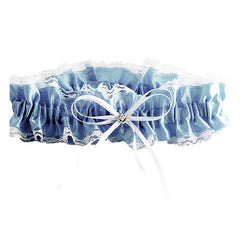 Blue and White Lace Something Blue Garter - Gifts Are Blue - 1