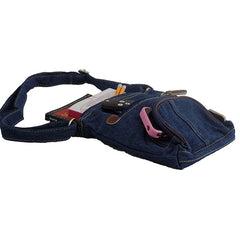 Retro Dark Blue Denim Women's Handbag - Gifts Are Blue - 4