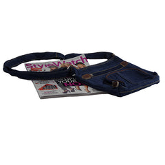 Retro Dark Blue Denim Women's Handbag - Gifts Are Blue - 5
