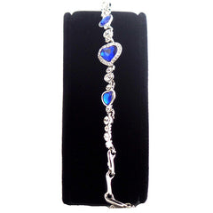 Elegant Sapphire Blue Heart Bracelet - Gifts Are Blue - 5