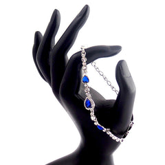 Elegant Sapphire Blue Heart Bracelet - Gifts Are Blue - 2