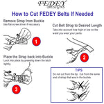 FEDEY Ratchet Belts for Men, Leather Signature Series, Blank Canvas, Instructions, all SKUs