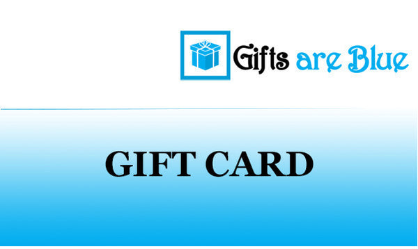 Gifts Are Blue Gift Card