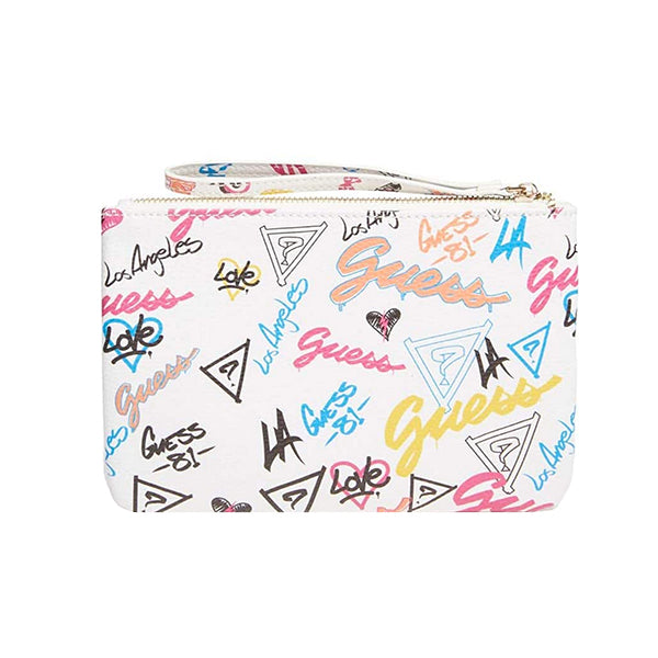Adrianna Faux-Leather Wristlet by Guess, Grafitti, DX20102, Back