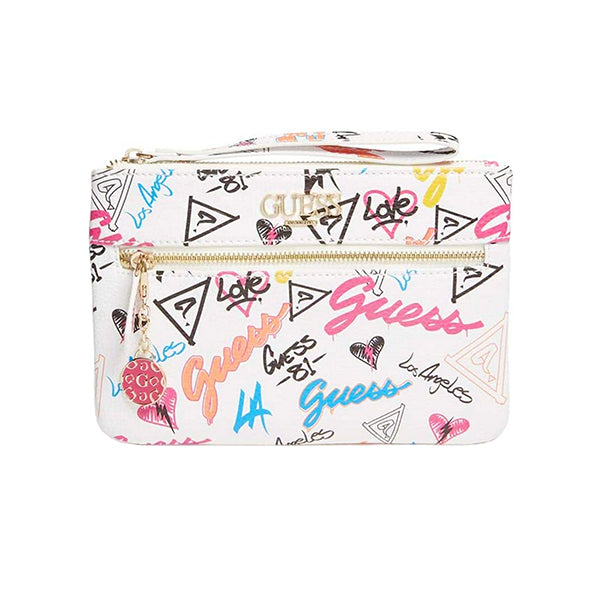 Adrianna Faux-Leather Wristlet by Guess, Grafitti, DX20102, Main