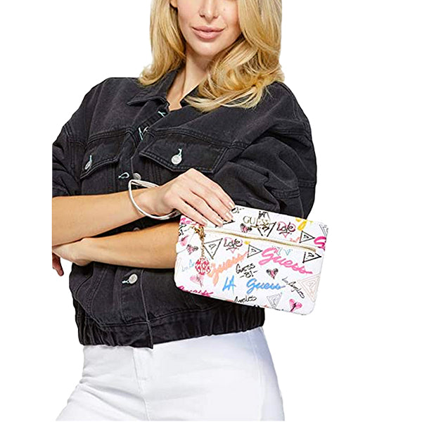 Adrianna Faux-Leather Wristlet by Guess, Grafitti, DX20102, Model