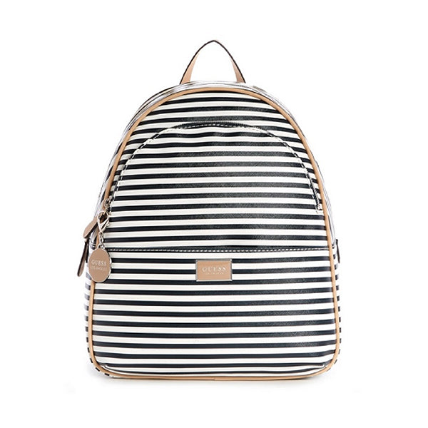 Guess Simmons Navy Blue Striped Backpack, Medium, ST756130, Main