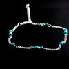 Hand Beaded Blue Anklet Chain - Gifts Are Blue - 2