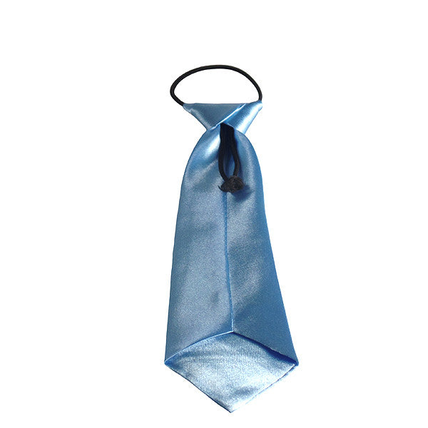Easy Slip On Solid Color Polyester Tie, 1 to 6 years - Gifts Are Blue - 8