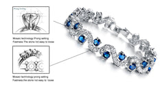 Fashionable Blue Sapphire Bracelet Jewelry With Gift Box - Gifts Are Blue - 2