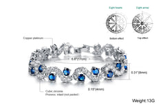 Fashionable Blue Sapphire Bracelet Jewelry With Gift Box - Gifts Are Blue - 3