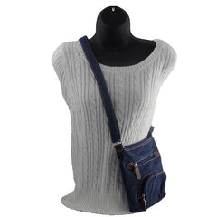 Retro Dark Blue Denim Women's Handbag - Gifts Are Blue - 2