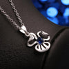 Simple Elegance Silver-Plated Blue Crystal Pendant Necklace - Gifts Are Blue - 2