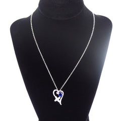 Stylish Sterling Silver Necklace with Blue Cubic Zirconia - Gifts Are Blue - 5
