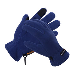 Mens Fleece Style Touch Screen Gloves - Gifts Are Blue - 7