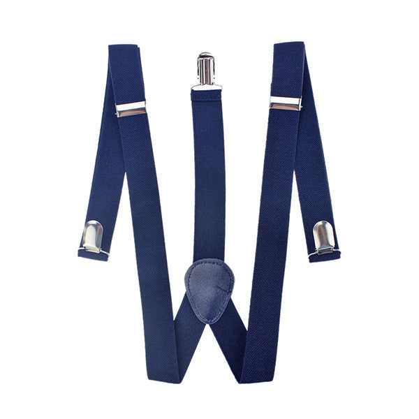 Unisex Designer Blue Suspenders - Gifts Are Blue - 2