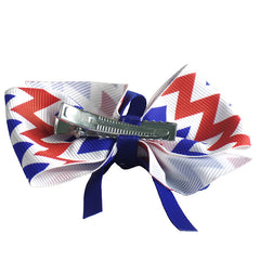 Americana Hair Bows for Girls and Teams - Gifts Are Blue - 5