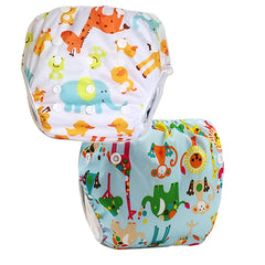 2 Pack Leakproof Reusable Swim Diapers, 0 to 2 years