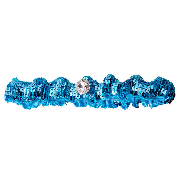 Aqua Blue Sequin Garter