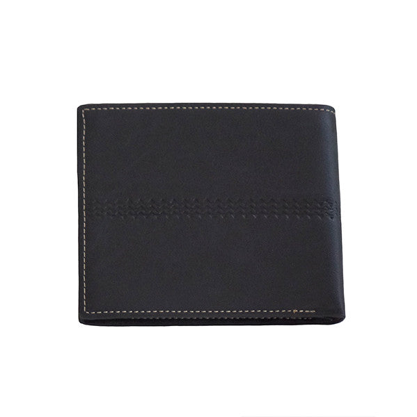 Mens Classic Bi-Fold Wallet with 8 Slots - Gifts Are Blue - 2