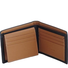 Mens Classic Bi-Fold Wallet with 8 Slots - Gifts Are Blue - 4