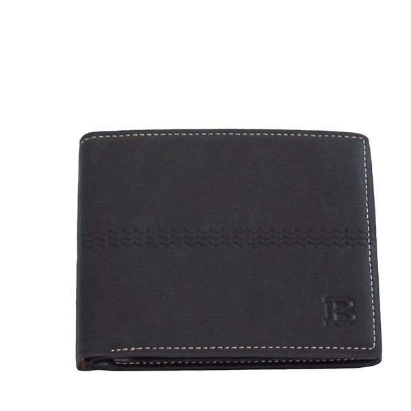 Mens Classic Bi-Fold Wallet with 8 Slots