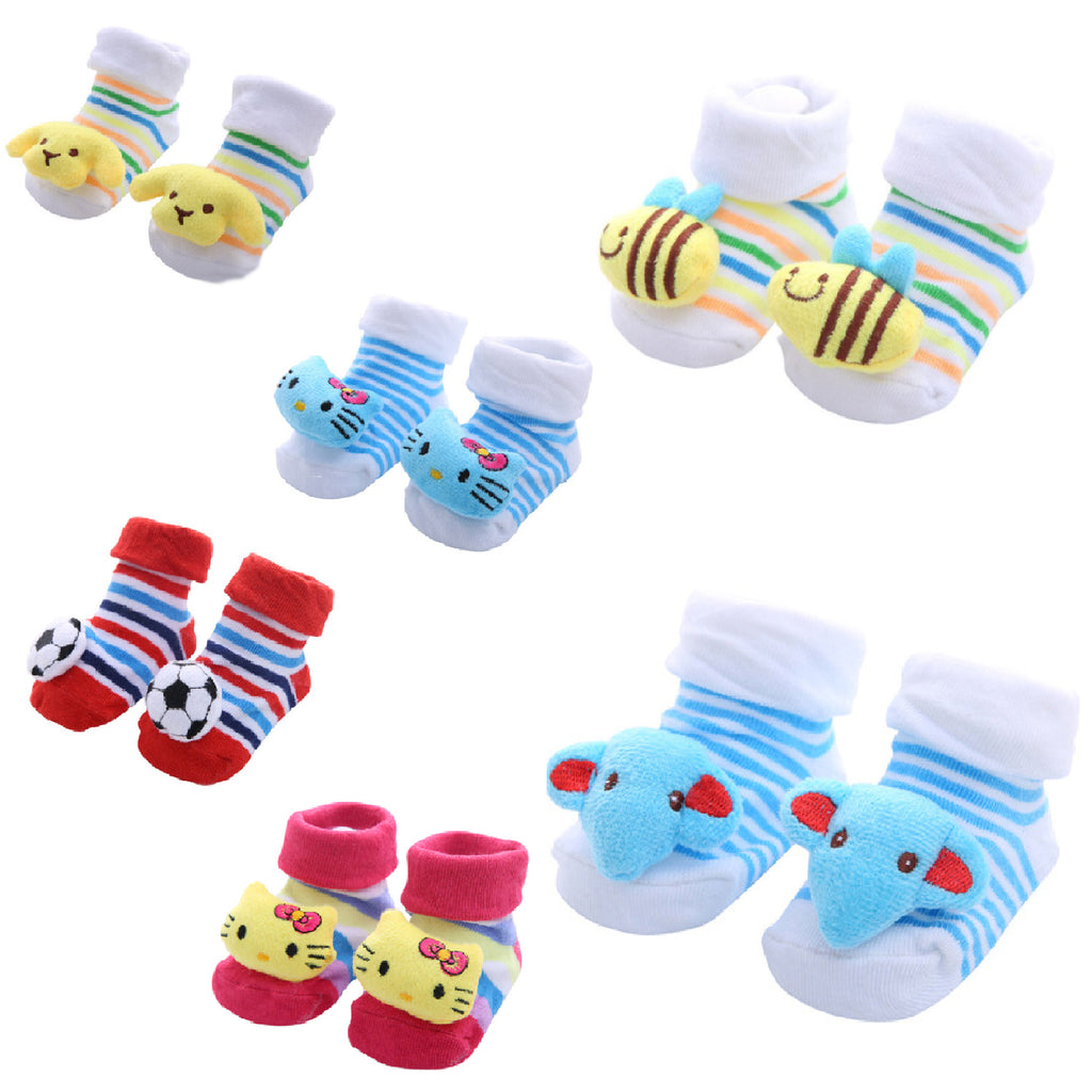 Cute Infant Baby Cotton Socks Shoes, 0 to 6 Months - Gifts Are Blue - All New Style Designs