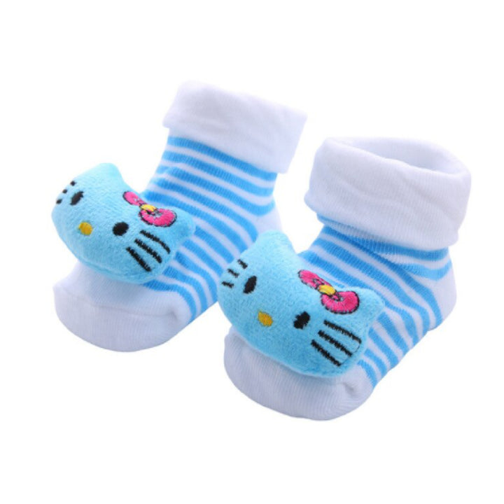 Cute Infant Baby Cotton Socks Shoes, 0 to 6 Months - Gifts Are Blue - 13
