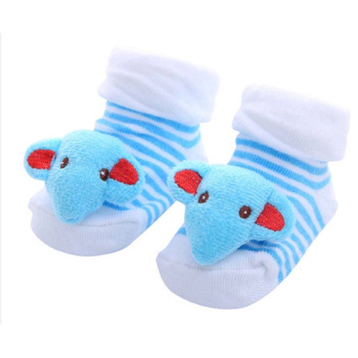 Cute Infant Baby Cotton Socks Shoes, 0 to 6 Months - Gifts Are Blue -12