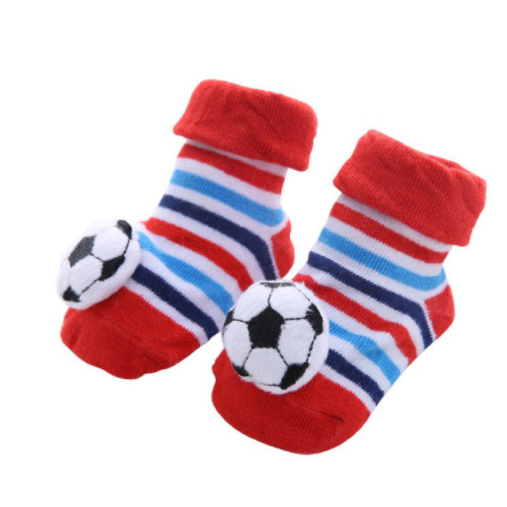 Cute Infant Baby Cotton Socks Shoes, 0 to 6 Months - Gifts Are Blue - 15
