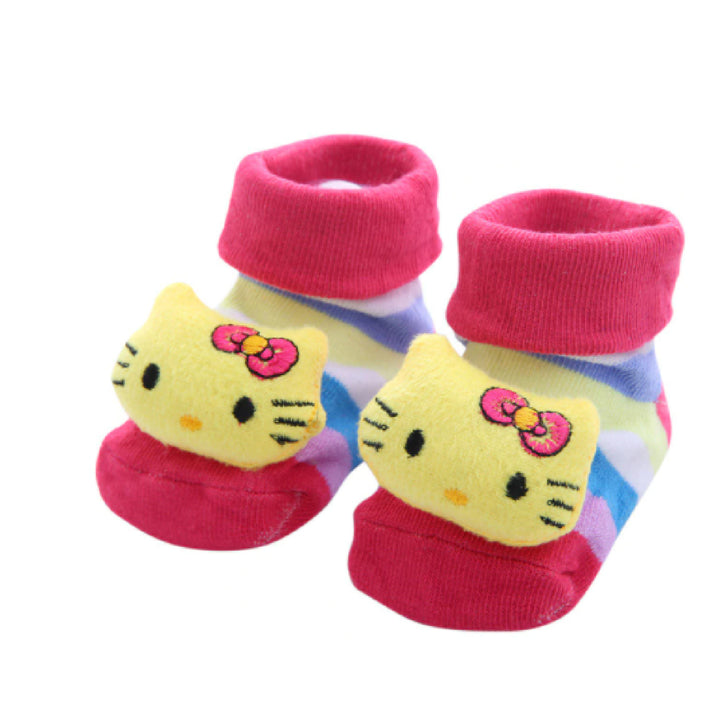 Cute Infant Baby Cotton Socks Shoes, 0 to 6 Months - Gifts Are Blue - 14