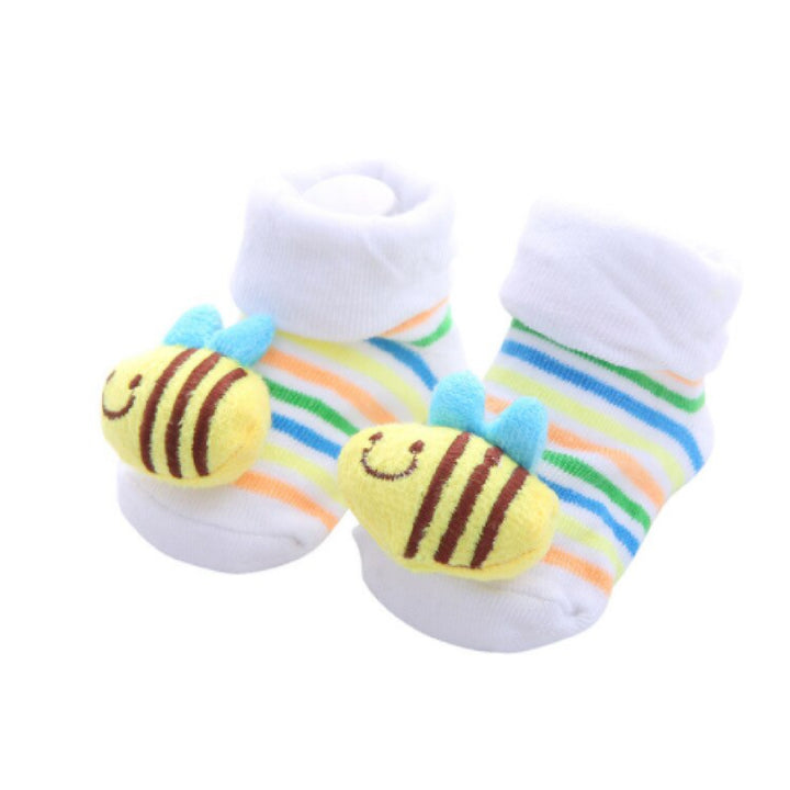 Cute Infant Baby Cotton Socks Shoes, 0 to 6 Months - Gifts Are Blue -16