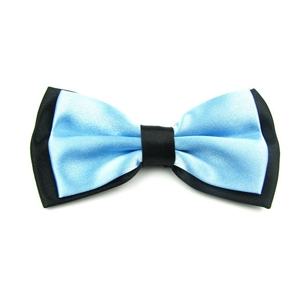 Mens Blue and Black Formal Event Pre-Tied Bow Ties - Gifts Are Blue - 2