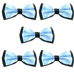 Mens Blue and Black Formal Event Pre-Tied Bow Ties Sets - Gifts Are Blue - 6