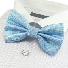 Mens Pre-Tied Blue Bow Tie for Formal Events - Gifts Are Blue - 2