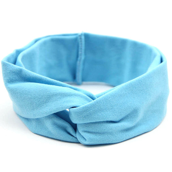 Blue Baby and Kids Headband / Head Scarf - Gifts Are Blue - 1