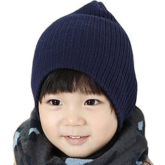 Little Kids Blue Beanie Hat - Gifts Are Blue - 2