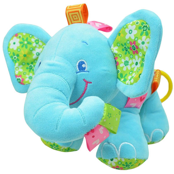 Cute Plush Lullaby Musical Elephant For Baby Gifts Are Blue