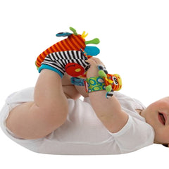 Baby Soft Rattle Toys for Hands and Feet, Wrist and Sock Rattles, Multicolor