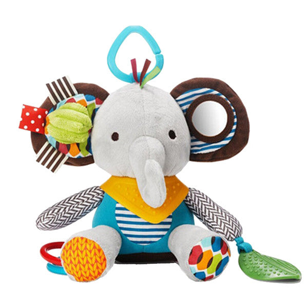 Newborn Baby Plush Animal Toy Rattle for Crib or Stroller - Gifts Are Blue - 3