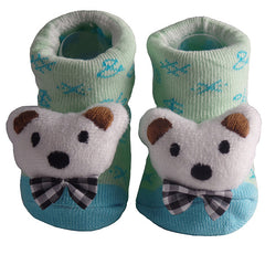 Cute Infant Baby Cotton Socks Shoes, 0 to 6 Months - Gifts Are Blue - 2